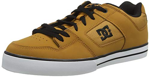 DC mens Pure skateboarding shoes, Wheat/Black, 6.5 US