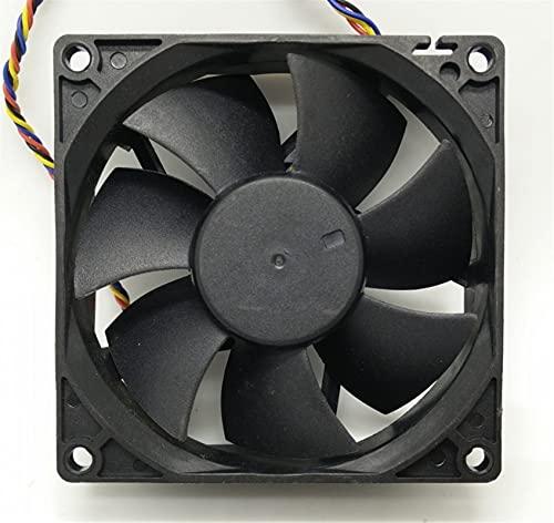Chasis 8025 80mm x 80mm x 25 mm DL08025R12U Rodamiento hidráulico PWM Ventilador de enfriamiento más frío 1 2V 0.50A 4 Conector de 4pin de Alambre Accesorios (Color : Black)