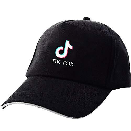 DFSF Sombrero TIK Tok Sombrero De Viaje Sombrero para El Sol-Negro-A_Ajustable