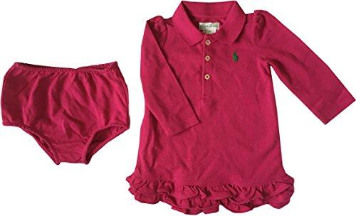 Polo Robe 2 pièces à manches longues pour fille 6 mois Fuchsia Rouge - Rouge - 6 mois