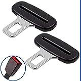 Hebilla de Cinturón de Seguridad, Conjunto de 2, 3 mm de Espesor, Conector del Cinturón de Seguridad En Negro, Adaptador de Clip de Hebilla del Cinturón de Coche, Cinturón de Seguridad, Universal