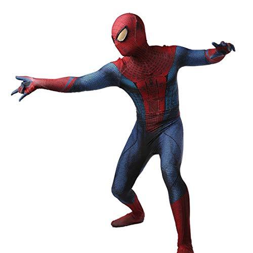 MODRYER Amazing Spider-Man-Halloween-Kostüme für Kinder Erwachsene Cosplay Bodysuit Lycra Spandex Zentai Kinder Leistung Engen Overall Set Bühnenkleidung,Adults/XXXL 175~180cm