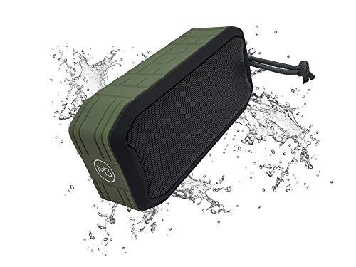 M3 Waterproof Portable Bluetooth Speaker 360 Sub-woofer iPX7 -Dust-Proof - for Indoor-Outdoor (Green)