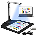 TELAM Scanner de Documents Portable A3 / A4 OCR Support de Scanner pour l'enseignement, 12MP Format de Capture multilingue, USB, Scanner de Documents pour la présentation de Bureau et d'éducation