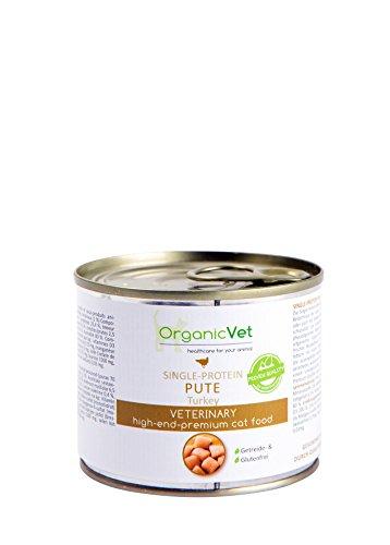 ORGANICVET Katze Nassfutter Veterinary Single-Protein Pute, 6er Pack (6 x 200 g)