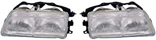 Go-Parts - PAIR/SET - OE Replacement for 1990-1991 Honda Civic CRX Front Headlights Headlamps Assemblies Front Housing/Lens/Cover - Left & Right (Driver & Passenger) HO2503102 HO2502102