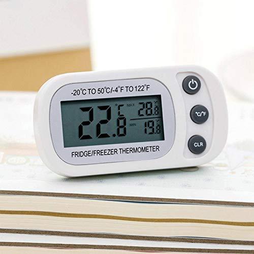 N-B Termómetro electrónico especial para refrigerador de cocina, a prueba de humedad y resistente al agua, versión mejorada con imanes y compra para colgar.