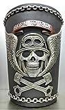 Richman789 Wastebasket Trash Can Decorative Decor Biker Motorcycle Skull Gift