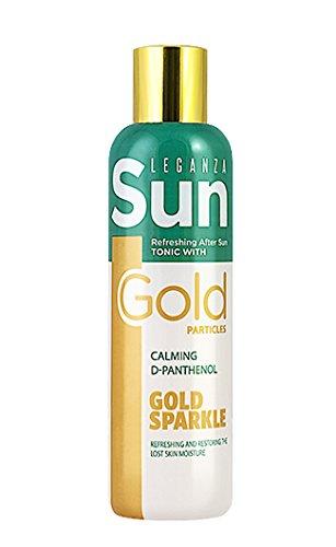 Tónico Refrescante y Hidratante para Después del Sol con Particulas Doradas de Leganza Sun