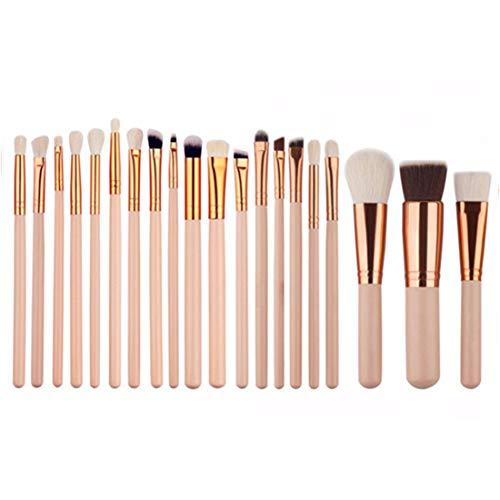 BERYLSHOP Set Tools Trousse de toilette à maquillage Brosse cosmétique en nylon Brosse for les yeux 20 en 1 (Couleur : Skin color)