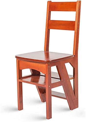 Sgabello da pediera, Scaletta per legno pesante Ladder 4 tap Transforming Piegatura Stepladder Stepladder Sedia dello schienale Stepladder Stempo per bambini per Bambini e Adulti, Sgabello alto allarg