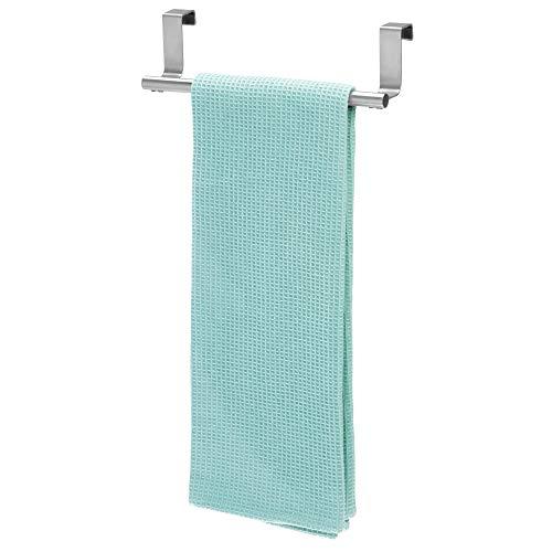 InterDesign Forma Asta portasciugamani, Piccola barra per asciugamani e asciugapiatti in acciaio, argento