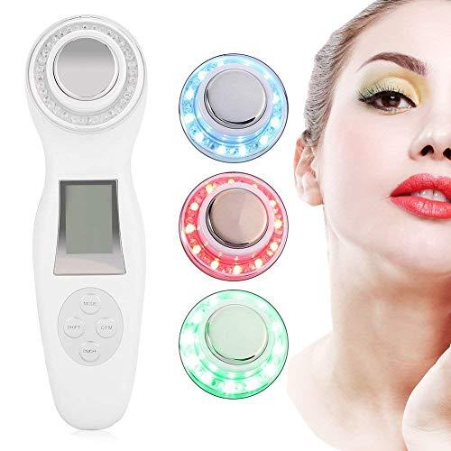 por ultrasonido dispositivo Ion Import Terapia Belleza dispositivo para anti-edad Skin Lifting anti-arrugas anti-edad y acné (Color Blanco)