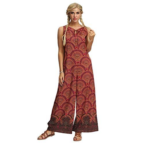 Lazzboy Frauen Beiläufige Lose Yoga Hosen Baggy Boho Aladdin Jumpsuit Pants Damen Haremshose Aladinhose In Verschiedenen Designs Pumphose Pluderhose Hose(Rot,S)