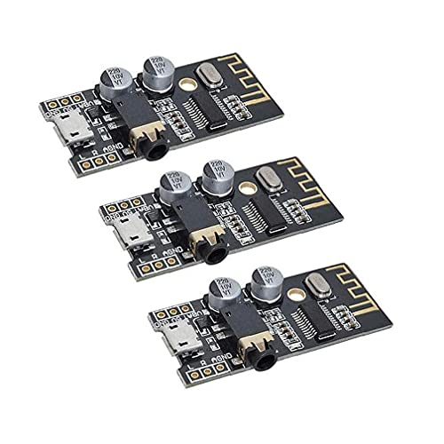 Módulo receptor de audio inalámbrico Bluetooth MP3 M28 Junta 4Wireless sonido estéreo Módulo Negro 3PCS, Componentes