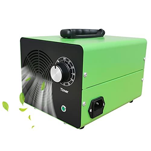 RDJSHOP Generador de Ozono Comercial con Temporizador, Portátil Esterilizador Casero Desodorante Ozonizador para Baño, Dormitorio, Oficina, Profesional Generadores de Ozono,Green-5000mg/h