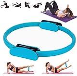 YSMOTO Pilates Circle – Anello per pilates tonificante anello per pilates con doppia impugnatura morbida per esercizi di fitness, esercizi fisici per scolpire forza e flessibilità per,Blu