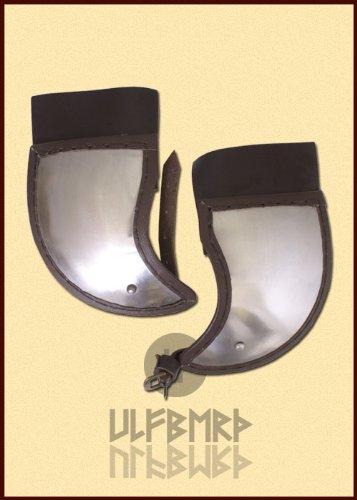 Ulfberth Wangenklappen für Helme, Paar aus Stahl und Leder