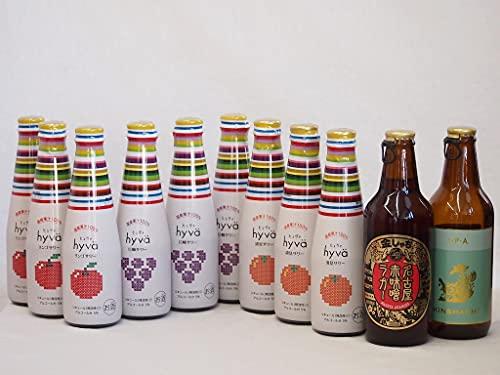 クラフトビールとリキュール11本セット(ヒュヴァ リンゴサワーalc.5% ヒュヴァ 巨峰サワーalc.5% ヒュヴァ 清見サワーalc.5% インディアペール 名古屋赤味噌ラガー) 200ml×9本 330ml×2本