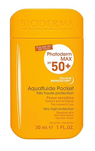 PHOTODERM MAX Aquafluide Pocket SPF 50+ 30ml  Très haute protection quotidienne anti-brillance – Plaisir et facilité d'application   Convient à toutes les peaux mêmes mixtes à grasses