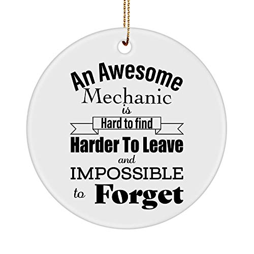 Mechanic Ornaments - Christmas Tree, New Years Eve, Retirement - Diesel Aircraft Auto Automotive Elevator Car Motorcycle Master Mechanical Engineer - Round Shaped Circle Ornament