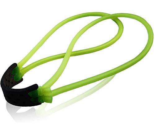 Fionda Elastico Slingshot Catapulta Elastici, 8 Pezzi Elastico di Ricambio per Professionale Fionde di Caccia per Adulti All'aperto Tiro Esercizi Bersaglio con Una Squisita Custodia (Green)