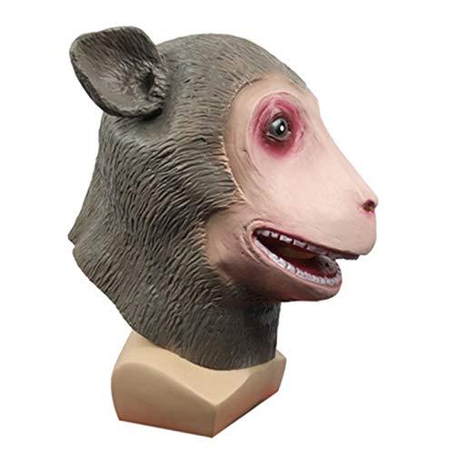 YHX Mscara de Mono de Boca Grande de Terror, Sombrero de Animal Divertido para Fiesta de Disfraces, Accesorios de Rendimiento para Fiestas navideas