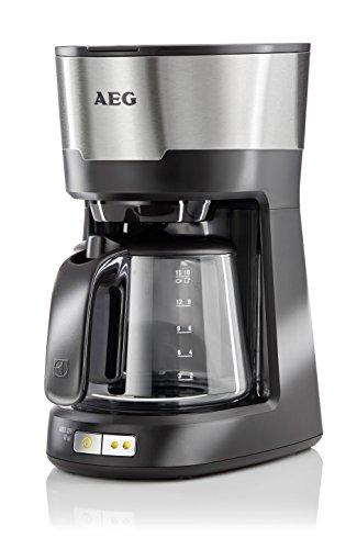AEG Kaffeemaschine 5Series KF 5300/1,25 L Glaskanne/Aromwahltaste/Warmhaltefunktion/Abschaltautomatik/inkl. Firschwasserfilter/Edelstahl/Licorice