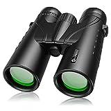 12 x 50 Binoculars for Adults, slopehill Powerful Waterproof Bird Watching Binoculars with BAK4 Lens, Low Light Night Vision Large Eyepiece Binoculars for Hunting, Sports and Concerts (Black)