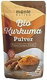 Bio Kurkuma Pulver von MonteNativo – 1000 g/1Kg gemahlen   Premium Kurkumapulver   3% Curcumingehalt   Bio Curcuma aus Indien - geprüfte Qualität, abgefüllt in Deutschland   BIO Curcumapulver