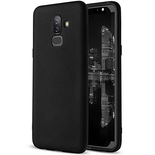 MyCase Funda Blanda para Samsung Galaxy J8 (2018) |Goma|Bumper | en Negro