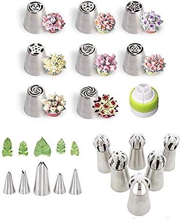 f/ête danniversaire Lot de 20 douilles russes en acier inoxydable pour d/écoration de g/âteaux biscuits cupcakes