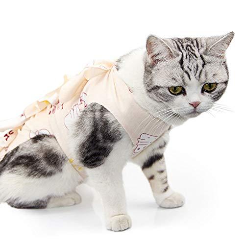 Recovery Suit Für Katzen,Professional Alternative Zum Strahlenkegel Shame Geeinigt Für Und Bandage Schutz,Bauchwunden Oder Hautkrankheiten Professionelle Genesung Chirurgischer Genesungsanzug ,D-M