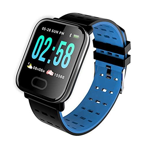 Orologio Intelligente da Uomo E Donna A6, Touch Screen Pressione Sanguigna Cardiofrequenzimetro IP67 Waterproof Bluetooth Sport Smart Orologio per Android iOS,A