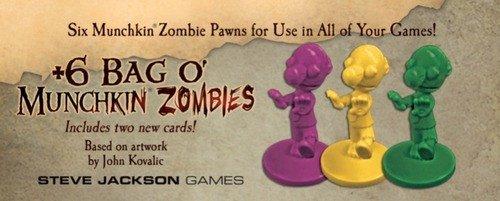Steve Jackson Games SJG05568 Brettspiel +6 Bag O'Munchkin Zombies