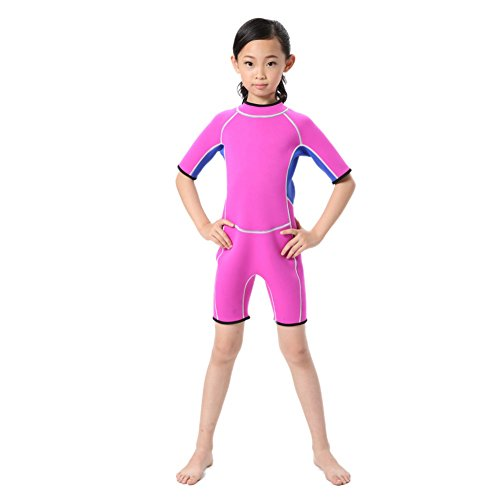 Hougood kinderbadmode korte mouwen neopreen pak overall waterski kleding professionele surfen kleding leeftijd 2-14 jaar