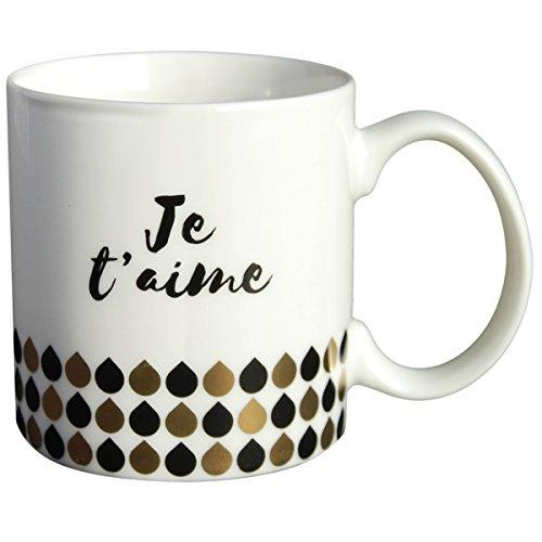 LA CARTERIE Taza de Regalo con Escrito en francés Je t 'Aime
