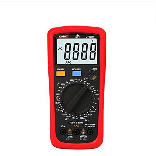 ER-JI Multímetro Digital de Alta precisión, Pantalla Digital automática, Mesa Universal eléctrica, Anti-Quemaduras, multímetro,UT39C+