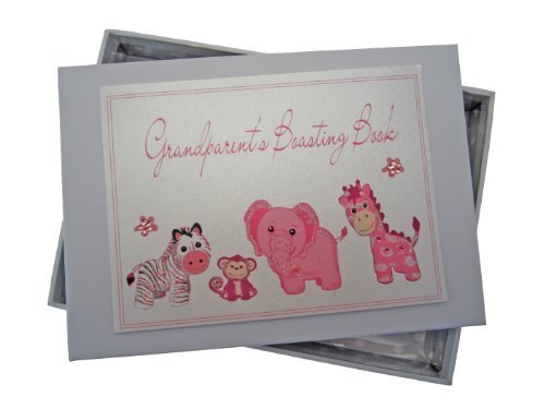 White Cotton Cards Grandparent's Boasting Book Photo Album (Tiny, Pink) by white cotton cards