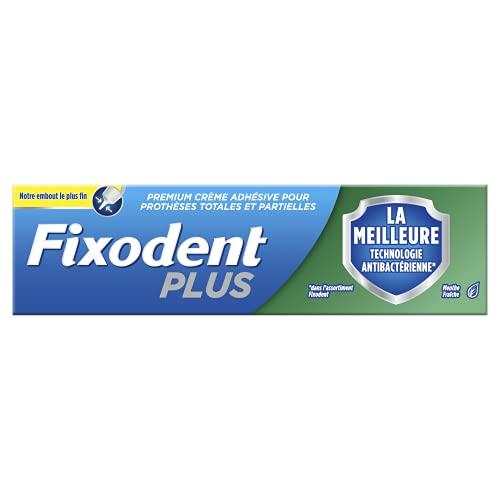 Fixodent Plus La Meilleure Technologie Antibactérienne Crème Adhésive Pour Prothèses Dentaires, 40g