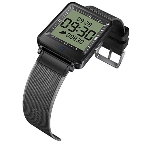 JingJingQi Smartwatch, CV16, Dual-Bildschirm, Smartwatch für Herren und Damen, IP67, wasserdicht, Aktivitäts-Tracker, Smartwatch für Android und iOS, Schwarz