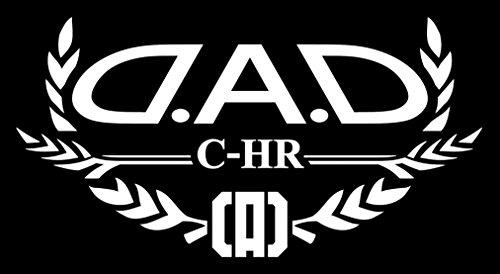 ギャルソン DAD AUTO MODELステッカー 【C-HR】 カラー:ホワイト ST107-18 D.A.D