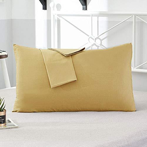 Funda de Almohada 100% algodón Funda de Almohada de Color sólido 66 * 66 cm 50 * 75 cm Funda de Almohada para Dormir Opcional Multicolor para Dormir tuo se, 51x66cm 2 Piezas