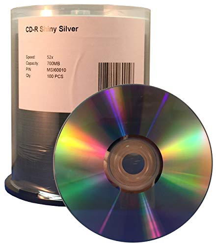 MediaPro Blank CD - Professional Grade Shiny Silver Thermal Lacquer CD-R - 100 Pack (Spindle Packaging)