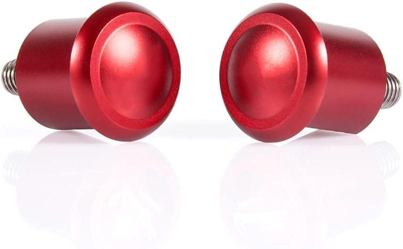 Accesorios de Scooter Agujero de Espejo de Aluminio Cubierta de Placa en Blanco Izquierda y Derecha Cubierta específica/Ajuste for Piaggio Vespa GTS300 GTS 300 (Color : Red)