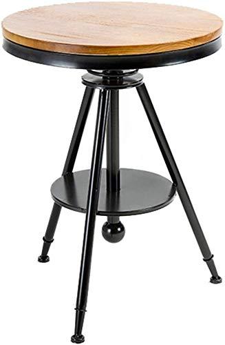 QTQZDD Hoge kruk, ronde tafel, bar, keuken, eetkamerstoel, eetkamerstoel, ontbijtstoel, met rugleuning, hoge stoel, vrijetijdsstoel, retro-barkruk, retro-industrieel design, metaal 3 3