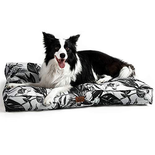 Bedsure Hundekissen für Große Hunde Wasserdicht XXL 110 x 90 cm - Gepolstert Hundematte Hundebett Waschbar Outdoor Geeignet Köstliches Fensterblatt