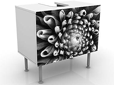 Meuble sous Vasque Design Aster II 60x55x35cm, Petit, 60 cm de Large, réglable, Table de lavabo, Armoire de lavabo, lavabo, M