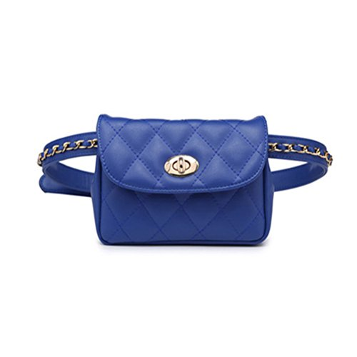 TTD Mode kleine süße Taille Fanny Pack Tasche Handytasche für Frauen & Mädchen-Blau