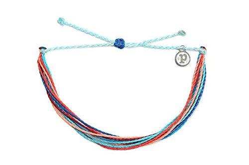 Pura Vida Riptide Bracelet - Iron-Coated Copper Charm, Adjustable Band - 100% Waterproof